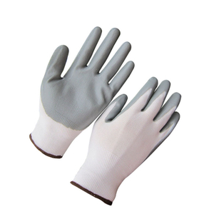 13G polyester grey nitrile coated gloves HNN333