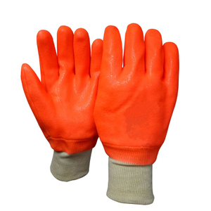 Fluorescent orange PVC gloves HPV936