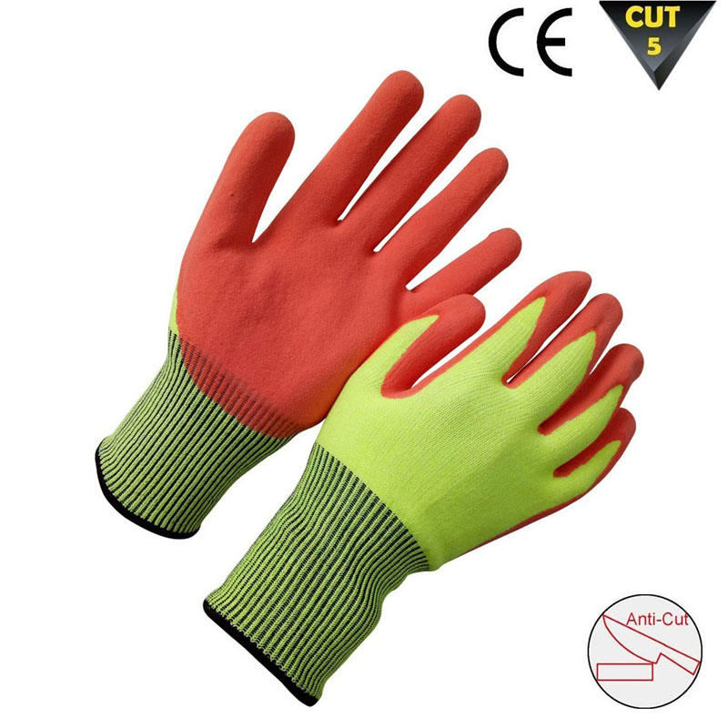 High visible cut resistant gloves HCR612