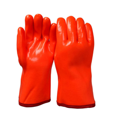 High visible orange winter PVC gloves HPV908