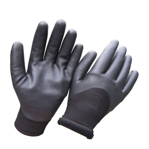 Foam nitrile winter work glove cold proof HNN513