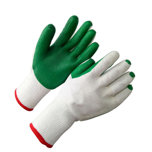 Cotton with rubber coated safety glove