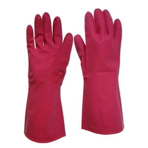 Red latex free nitrile household gloves HHL512