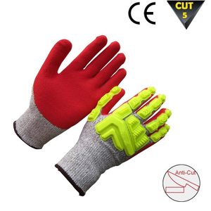 Anti Cut HPPE gloves with TPR HCR277