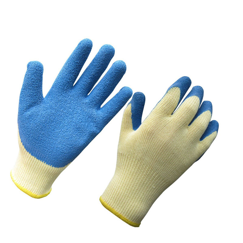latex coated gloves with 10 gauge