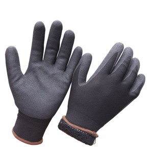 Soft Winter work glove with acrylic fleece liner cold proof HNN468P