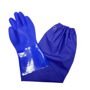 Chemical resistant PVC gloves with long sleeve
