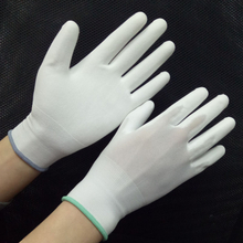 Polyurethane coated DMF free white PU gloves HPU101