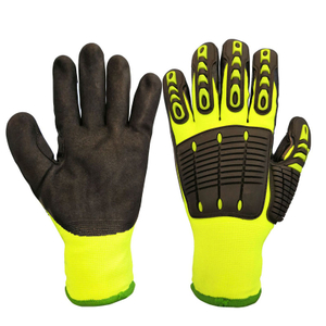 Cut and TPR Impact Resistant Hand Protection Insulated Work Gloves