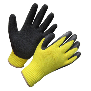 10G wrinkle latex coated gloves HKL657
