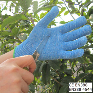 Food Industry Blue Hppe Gloves Anti Cut Kitchen Work Glove