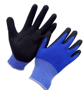 Blue 15 gauge sandy nitrile coated glove HNN476