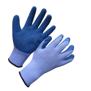 10G polyester crinkle latex coated glove HKL618